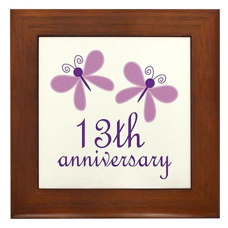 13th Anniversary (Wedding) Framed Tile