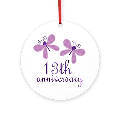 13th Anniversary (Wedding) Ornament (Round)