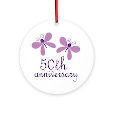 50th Anniversary (Wedding) Ornament (Round)