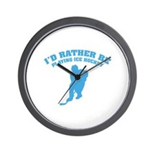 I'd rather be playing ice hockey Wall Clock