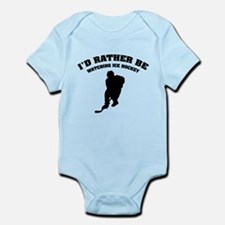 I'd rather be watching ice hockey Infant Bodysuit