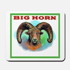 Big Horn Ram Cigar Label Mousepad