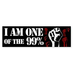 I am one of the 99% bumper sticker