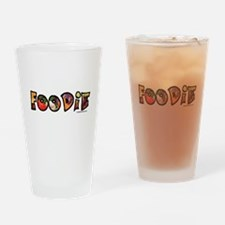 Foodie, food drink lover Drinking Glass