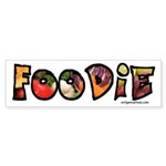 Foodie, food drink lover Sticker (Bumper)