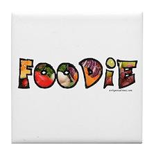 Foodie, food drink lover Tile Coaster