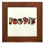 Foodie, food drink lover Framed Tile