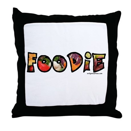 Foodie, food drink lover Throw Pillow