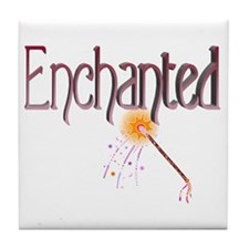Enchanted (red+pink) Tile Coaster