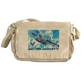 Military aircraft c 130 gunship army air force Messenger Bag