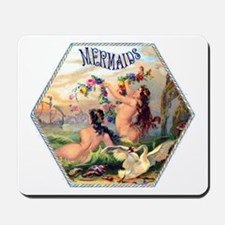 Mermaids Cigar Label Mousepad