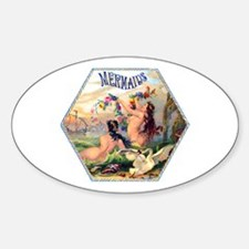 Mermaids Cigar Label Decal