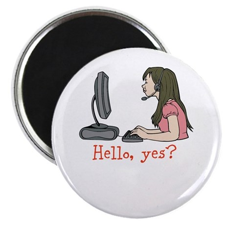 "Hello, yes? 2.25"" Magnet (10 pack)"