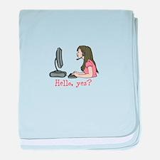 Hello, yes? baby blanket