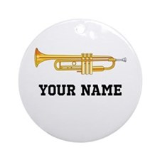 Trumpet Band Music Personalized Ornament