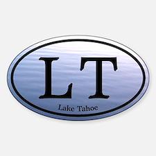 Lake Tahoe LT Blue Water Sticker (Oval)