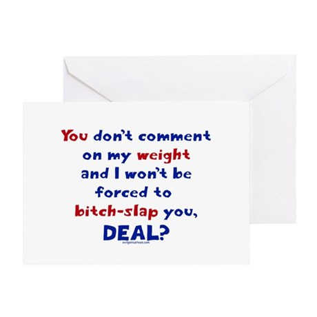 Weight bitch-slap Greeting Card