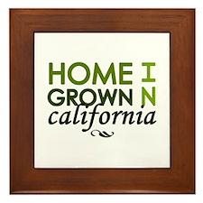 'California' Framed Tile