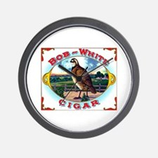 Bob White Cigar Label Wall Clock
