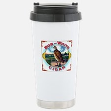 Bob White Cigar Label Stainless Steel Travel Mug