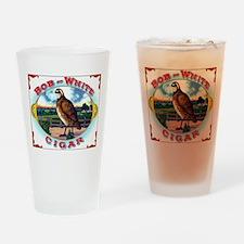 Bob White Cigar Label Drinking Glass