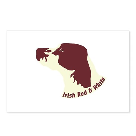 Irish Red & White Setter Postcards (Package of 8)