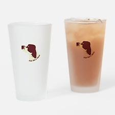 Irish Red & White Setter Drinking Glass