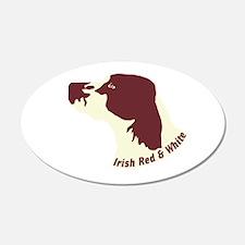 Irish Red & White Setter 22x14 Oval Wall Peel
