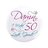50th birthday women Buttons