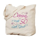 50th birthday women Totes & Shopping Bags