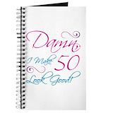 50th birthday for women Journals & Spiral Notebooks