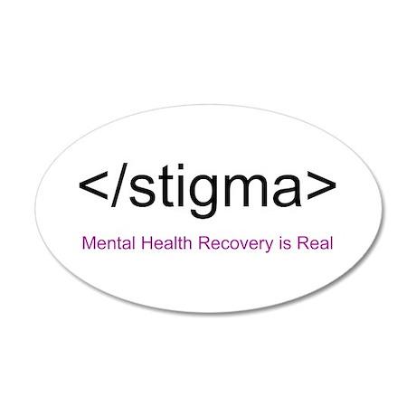 End Stigma HTML 20x12 Oval Wall Decal