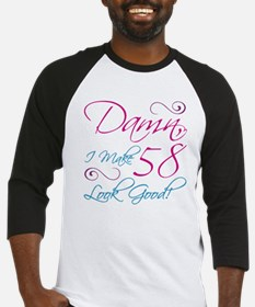58th Birthday Humor Baseball Jersey