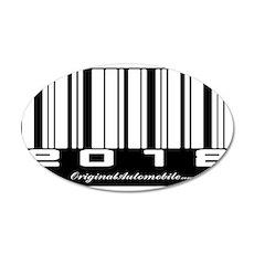 2012 Bar Code 22x14 Oval Wall Peel