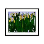 Beautiful Iris Painting Framed Panel Print