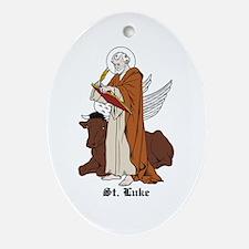 St. Luke Oval Ornament
