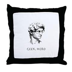 Geek Hero Throw Pillow