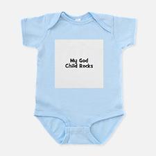 My God Child Rocks Infant Creeper