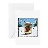 Bee christmas Greeting Cards (20 Pack)