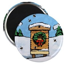 """Christmas Bees 2.25"""" Magnet (10 pack)"""