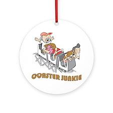 Roller Coaster Junkie Ornament (Round)