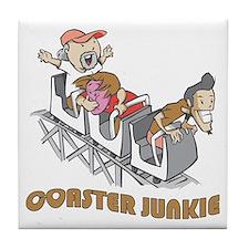 Roller Coaster Junkie Tile Coaster