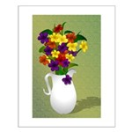 Colorful Floral Still Life Small Poster