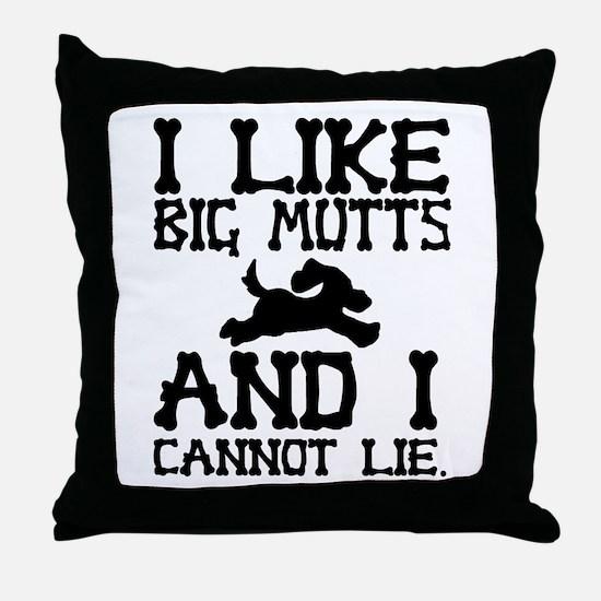 'Big Mutts' Throw Pillow