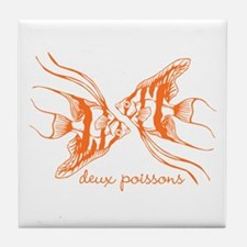 Two Fish (orange) Tile Coaster