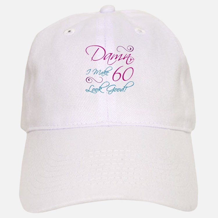 60th Birthday Humor Baseball Baseball Cap