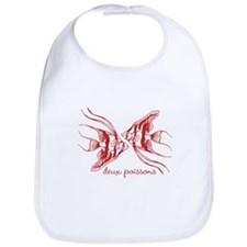 Two Fish (dark red) Bib