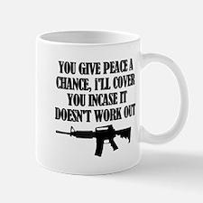 Cute Give peace a chance Mug