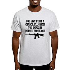 Cute Give peace a chance T-Shirt
