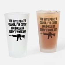 Funny Soldier Drinking Glass